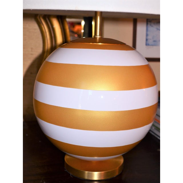 Gold Gold & Cream Kate Spade Table Lamp For Sale - Image 8 of 10