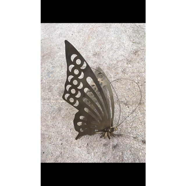 Vintage Brass Butterfly Wall Decor - Image 4 of 6