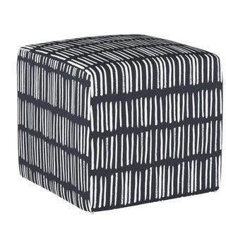 Dash Navy Cube Ottoman