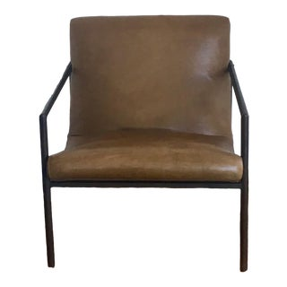 Modern Cisco Brothers Griffin Leather Chair For Sale