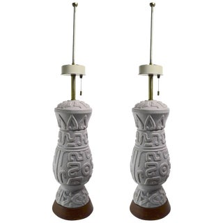 Pair of Ceramic Lamps by Thurston For Sale