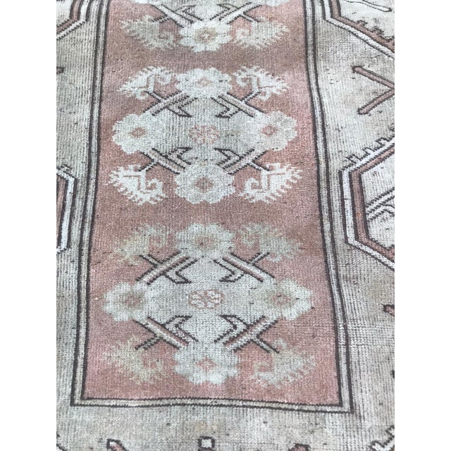 Islamic Turkish Hand Knotted Milas Area Rug For Sale - Image 3 of 5