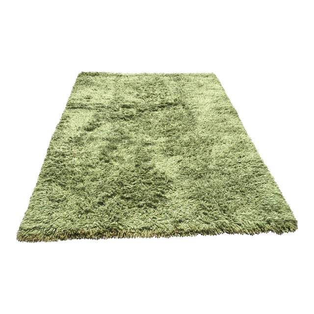 Turkish Hand Knotted Wool Rug - 5′4″ × 8′ - Image 1 of 6
