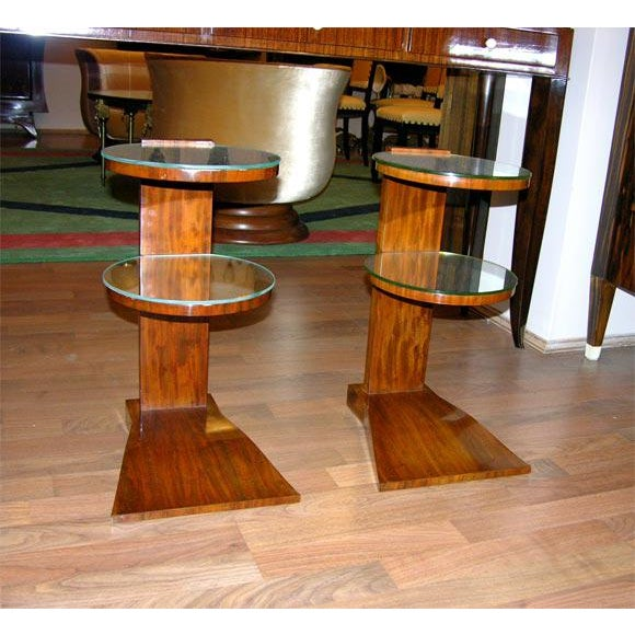 Pair of French Art Deco Mirrored Tables by Jules Leleu For Sale In New York - Image 6 of 6