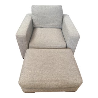 Room and Board Metro Chair and Ottoman