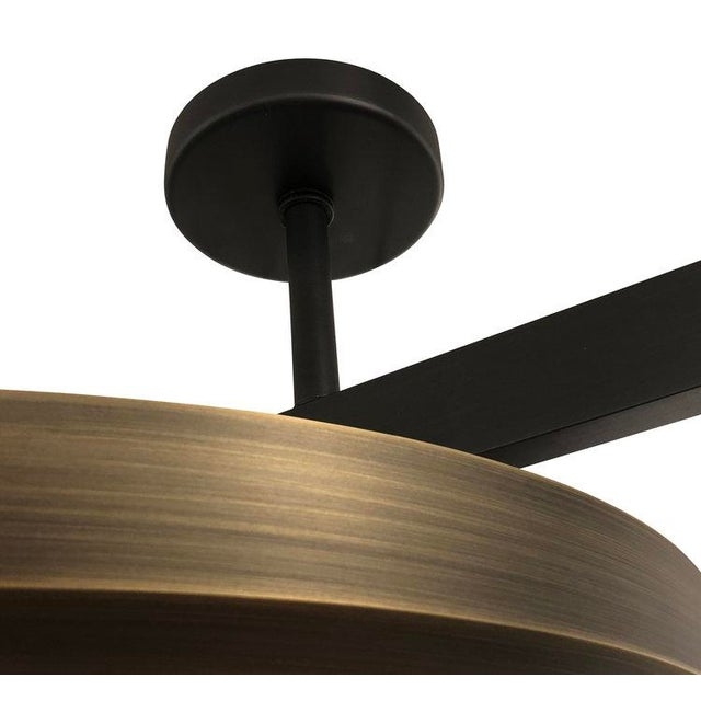 """Not Yet Made - Made To Order Gaspare Asaro FormA """"Zeta"""" Black Bronze Edition Ceiling Light For Sale - Image 5 of 8"""