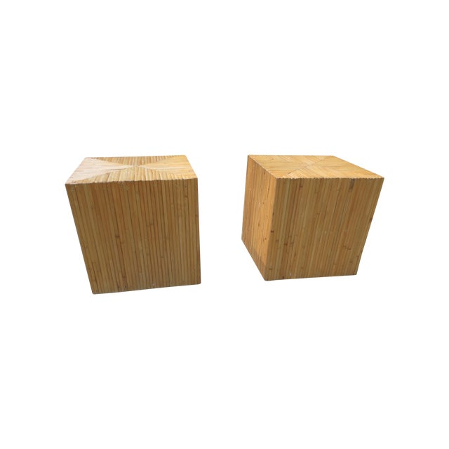 Vintage 1970s McGuire Bamboo End Tables - A Pair - Image 1 of 5