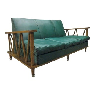French Cerused Oak Loveseat For Sale