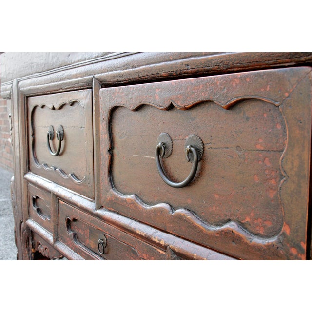 Chinese Scrolled Antique Console For Sale In Los Angeles - Image 6 of 10