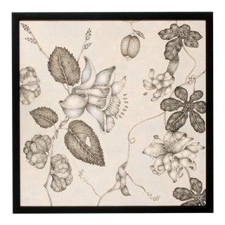Fleurs Effilées #3, Fine Art Giclée Print on Canvas, Framed For Sale