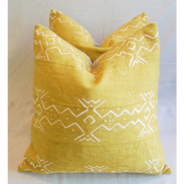 Handwoven Tribal Textile Feather/Down Pillows - Pair - Image 2 of 11