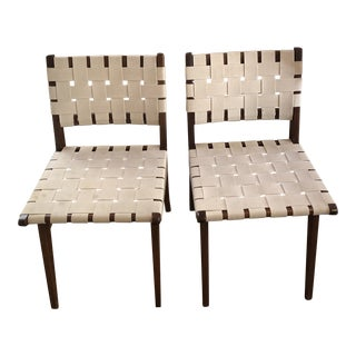 1950s Vintage Authentic Risom for Knoll Side Chairs- a Pair For Sale