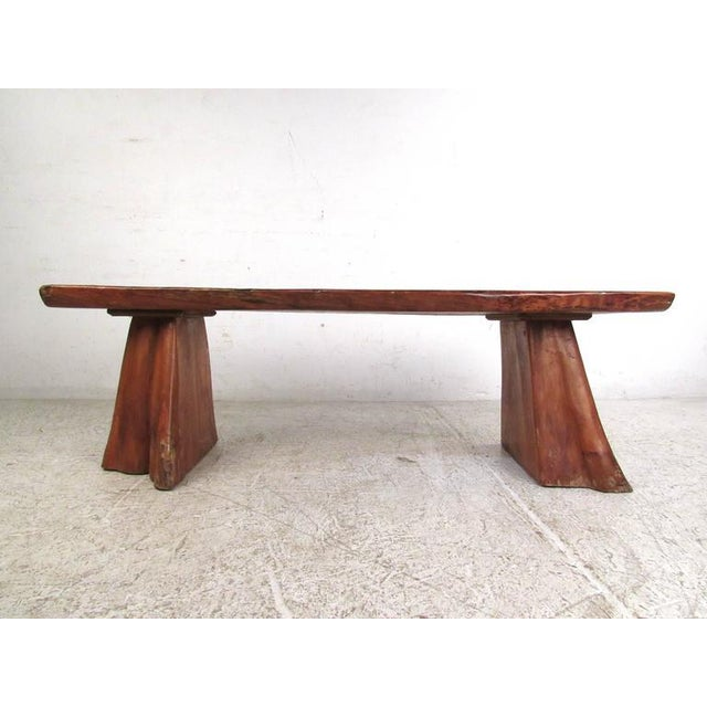 Live Edge Tree Slab Coffee Table or Bench For Sale - Image 4 of 11