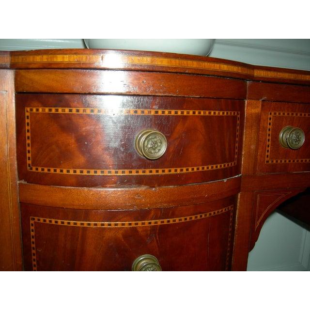 1920s Hepplewhite Mahogany Inlay Desk For Sale - Image 5 of 13