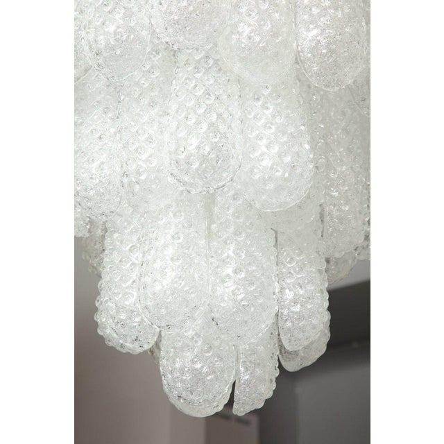 Modern Murano Glass Honeycomb Chandelier For Sale - Image 3 of 7