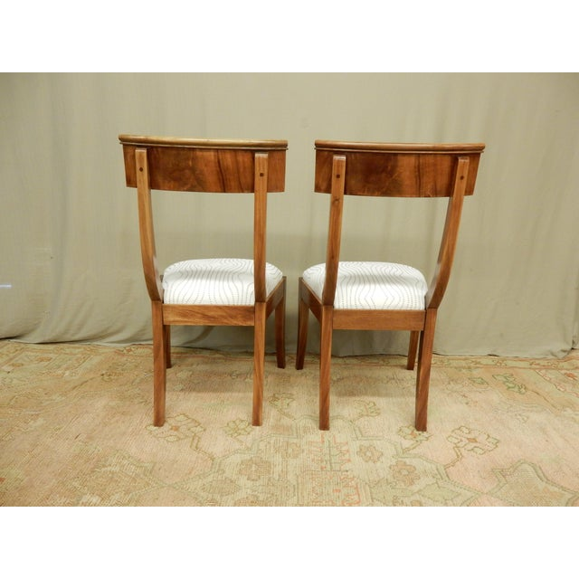 Pair of Neo-Classical Empire Side Chairs For Sale - Image 4 of 6