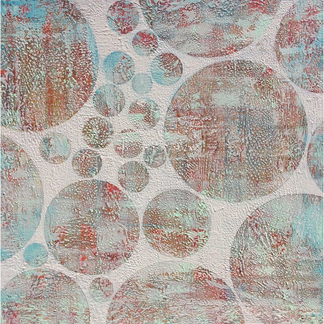Original Abstract on Stretched Canvas - Image 1 of 3