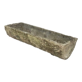 English Garden Stone Faux Bois Log Planter For Sale
