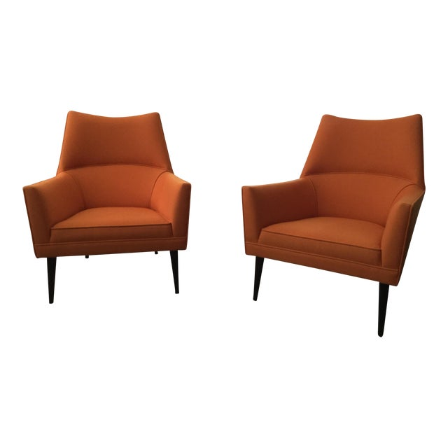 Paul McCobb Orange Squirm Chairs - a Pair For Sale