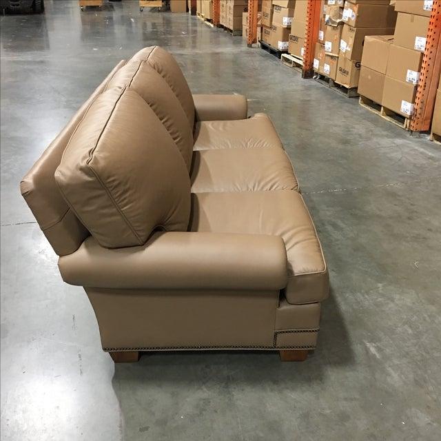 Leathercraft Tan Leather Sofa - Image 3 of 6