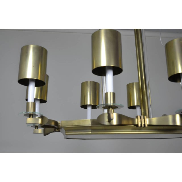 Large Art Deco Style Modernist Chandelier For Sale - Image 4 of 11