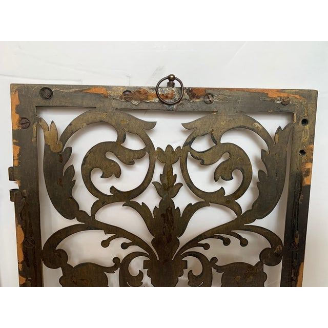 Vintage Pierced and Etched Brass Panels -A Pair For Sale - Image 10 of 13