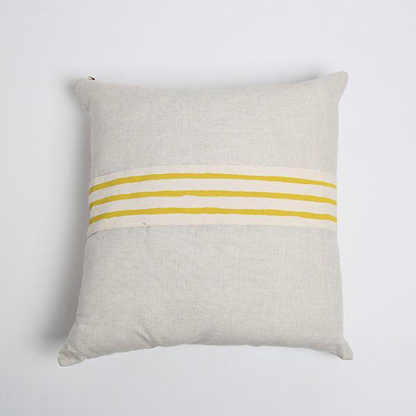Modern Erin Flett Linen Pillow With Trim - Image 3 of 3
