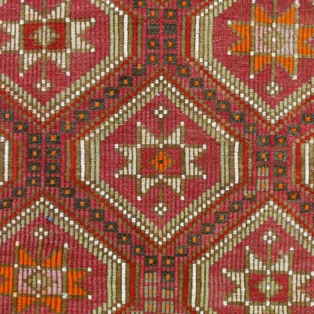 Red Turkish Kilim Flatweave - 6'2'' x 9'11'' - Image 3 of 5
