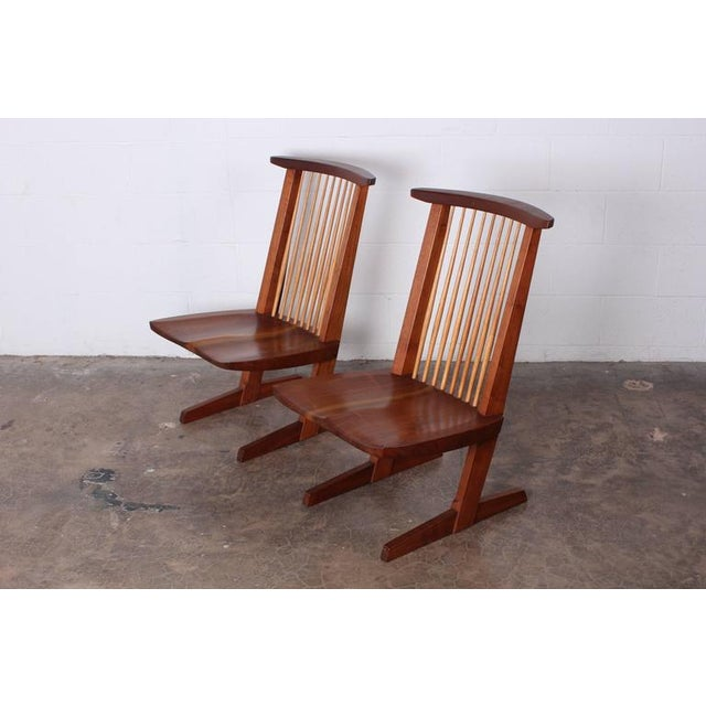 Pair of Conoid Lounge Chairs by George Nakashima For Sale In Dallas - Image 6 of 10