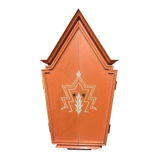 A GERMAN EXPRESSIONIST LACQUERED TABERNACLE MIRROR