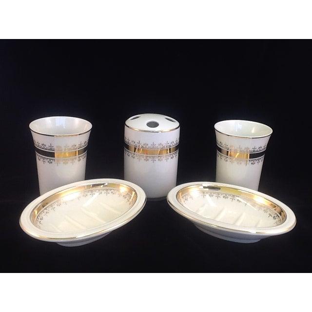 Vintage Japanese Porcelain Bath Set - 5 Pieces - Image 2 of 7