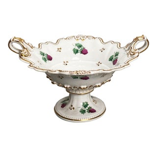 19th Century English Porcelain Footed Bowl For Sale