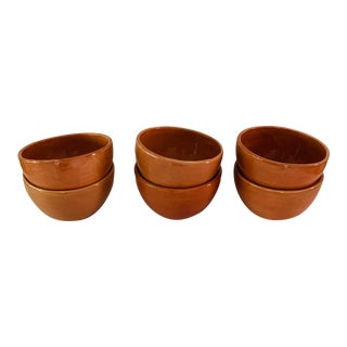 Pottery Barn Terra Cotta Bowls - Set 6 For Sale