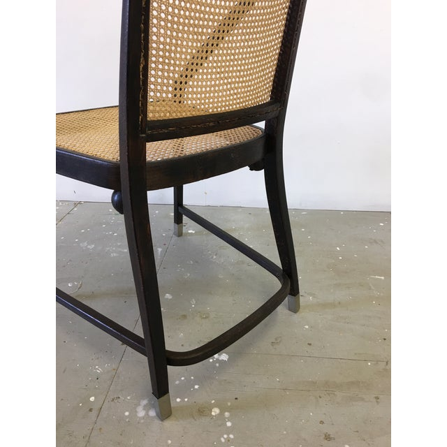 Brown Josef Hoffmann Caned Side Chair For Sale - Image 8 of 13
