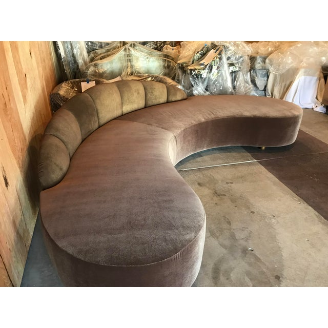 Vladimir Kagan Kagan Style Curved Sofa For Sale - Image 4 of 8