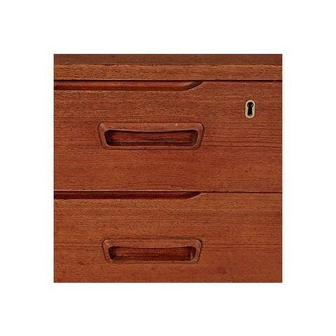 Brown 1960s Danish Teak Vanity Cabinet For Sale - Image 8 of 8