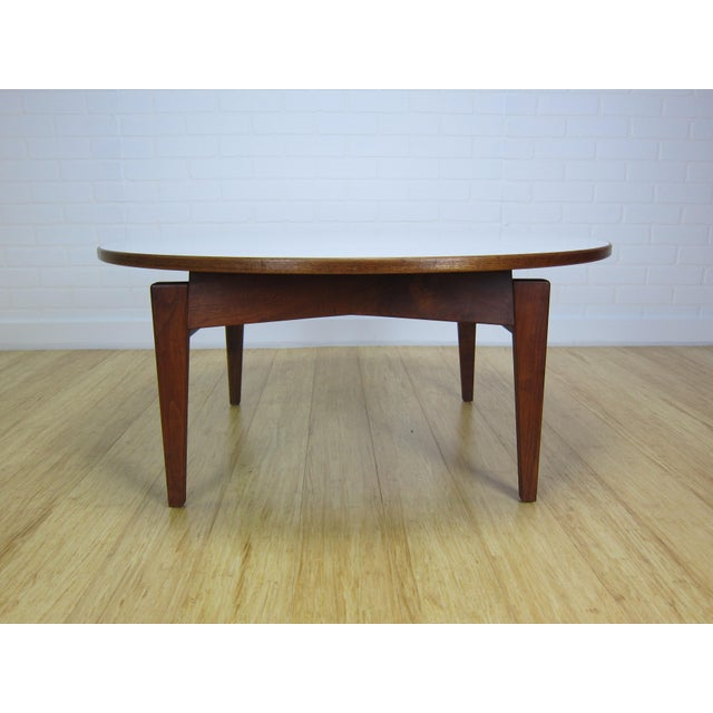 1950s Mid-Century Jens Risom Laminate & Walnut T-336 Coffee Table For Sale - Image 5 of 9