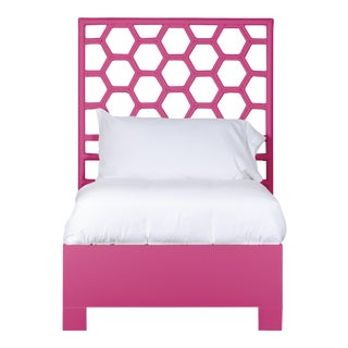 Honeycomb Bed Twin Extra Long - Bright Pink For Sale