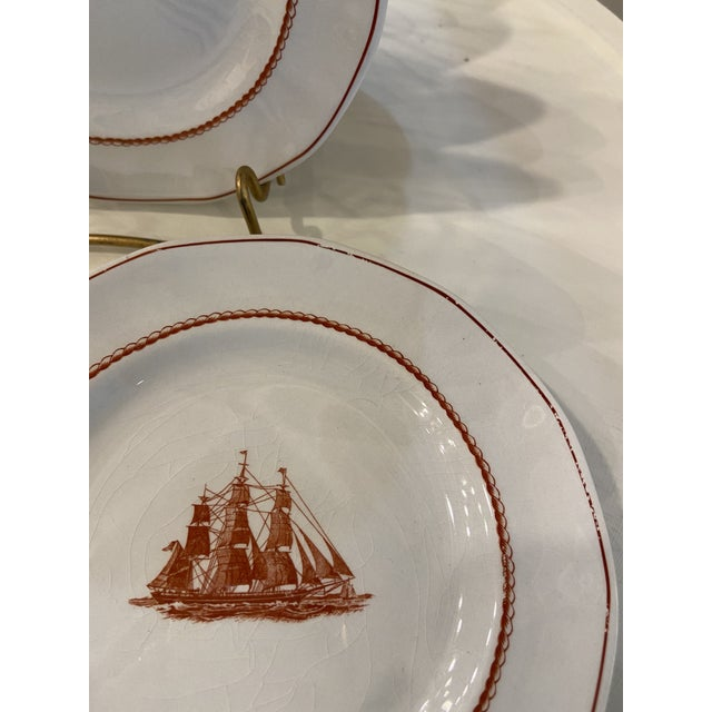 1980s 1980s Wedgwood Flying Cloud Rust Dessert Plates- Set of 8 For Sale - Image 5 of 8