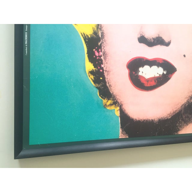 "Metal Andy Warhol Vintage 1988 Lithograph Print Framed Pop Art Poster "" Marilyn "" 1964 For Sale - Image 7 of 13"