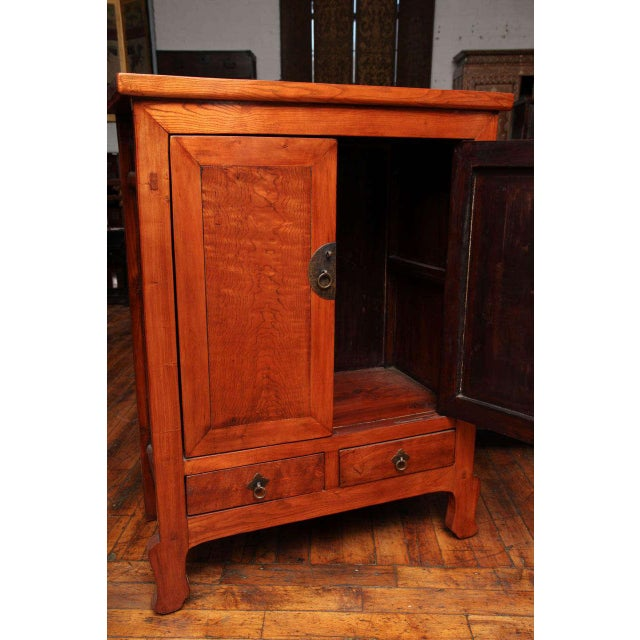 Brown Tall Antique Natural Color, Lacquered Cabinet From China, 19th Century For Sale - Image 8 of 10