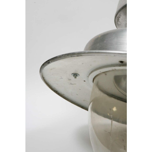 Metal Early 20th Century Industrial Hanging Lamp From England For Sale - Image 7 of 8