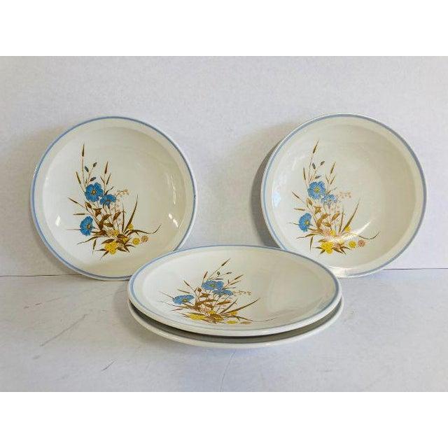Vintage 1980s Ming Pao Mip2 Floral Design Dessert Plates - Set of 4 For Sale - Image 4 of 4
