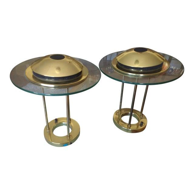 Vintage Sonneman Kovacs Saturn Desk Lamp - A Pair For Sale