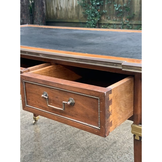 Directoire Style Writing Desk With Leather Top For Sale - Image 4 of 11