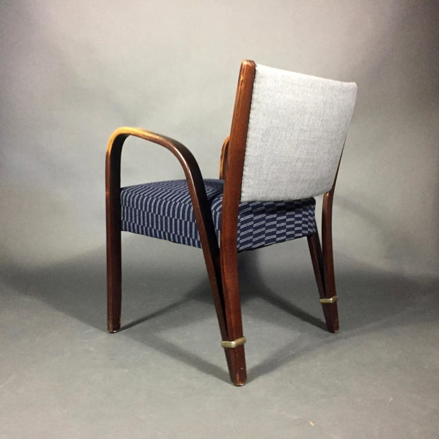 "Mid-Century Modern ""Bow Wood"" Armchair, Hughes Steiner, France 1950s For Sale - Image 3 of 8"