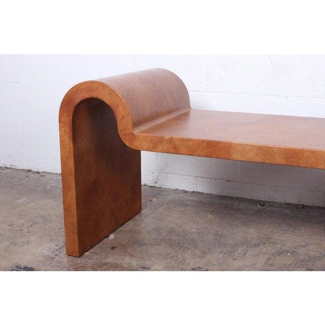 Karl Springer Karl Springer Goatskin Parchment Bench For Sale - Image 4 of 13