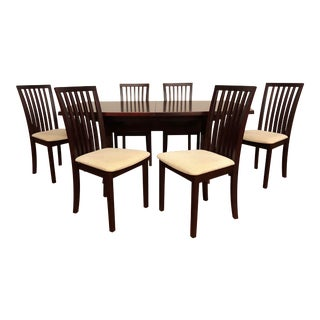 Skovby Expandable Dining Table Set With Matching Skovby Dining Chairs For Sale
