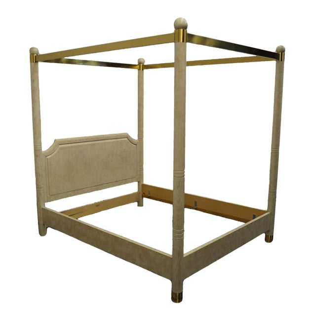 Henredon Furniture Charisma Collection Queen Size Four Poster Canopy Bed For Sale - Image 9 of 9