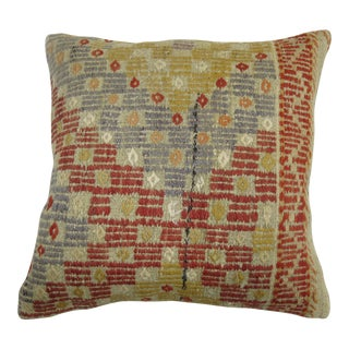 Turkish Flat-Weave Rug Pillow For Sale
